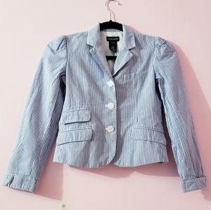 Ralph Lauren Blue StripesThree Buttons Blazer